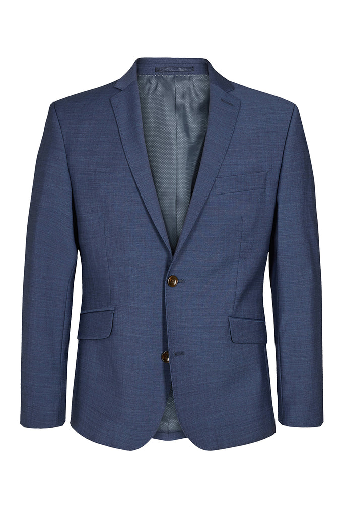 Traveller krølfri Herreblazer - Modern fit Medium Blue