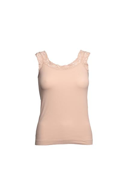Organisk blonde top - NUDE