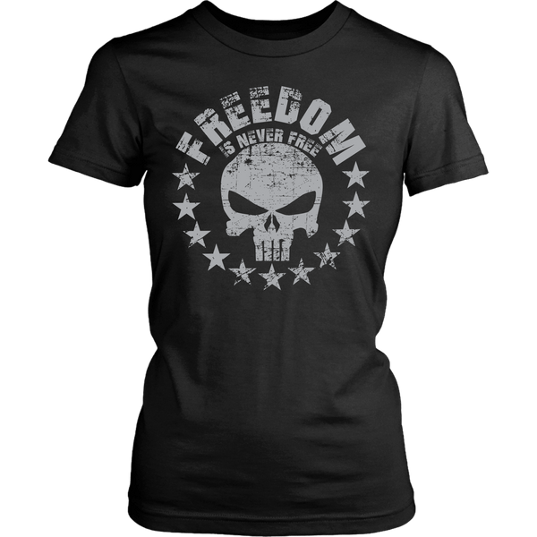 Freedom Is Never Free T-shirt Design - Punisher Skull Stars, Freedom Shirt Never Forget Freedom Is Not Free - xpertapparel