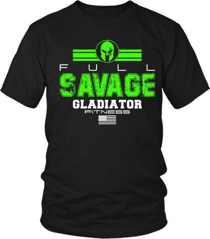 Gladiator Fitness - Full Savage- T shirt Design - xpertapparel