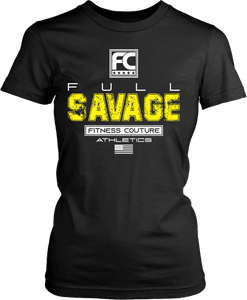 Full Savage- Fitness Couture T shirt Design - xpertapparel