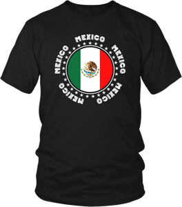 Mexico Spirit Shirt - Mexico Flag Casual Men's T-shirt