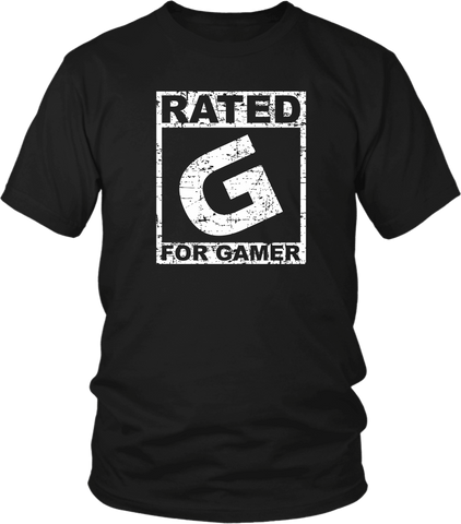 Rated G For Gamer T-Shirt Video Game Lover Nerd