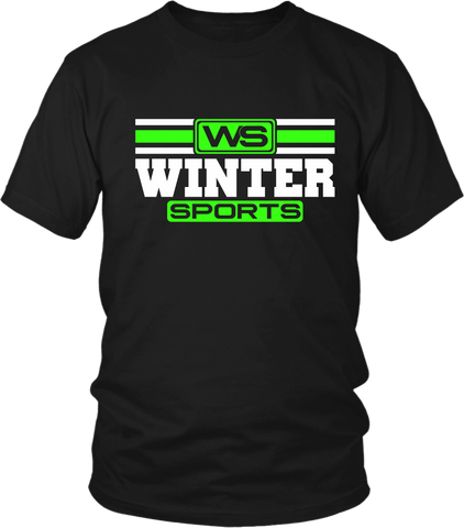 WS - Winter Sports T- Shirt Lime Green -Unisex