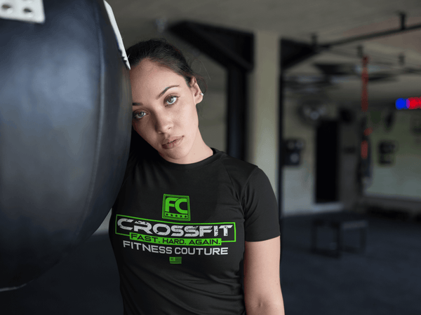 Fitness Couture Crossfit T-Shirt - Workout, Gym Day T-Shirt - Lime Green - xpertapparel