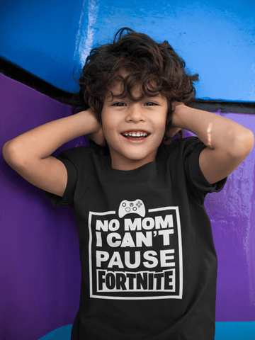 Pause Fortnite - Kids T-shirt, Game theme, Fortnite - xpertapparel