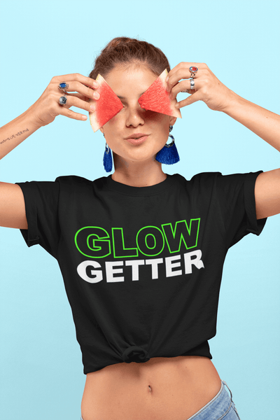 *Awesome New Release* Glow Getter T shirt - Green and White