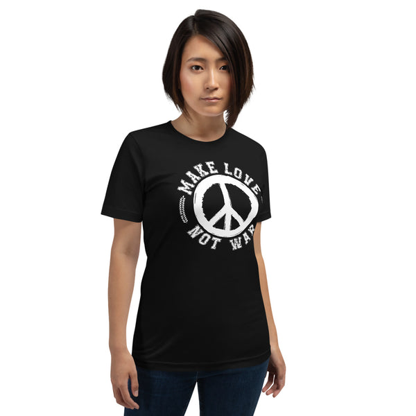 Make Love Not War - Peace Logo Woman's T-shirt