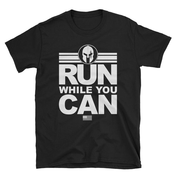 Gladiator Fitness - Run while you can T-shirt - xpertapparel