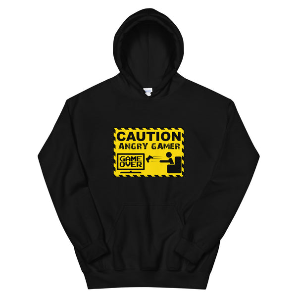 Caution Angry Gamer - Funny T-shirt Design