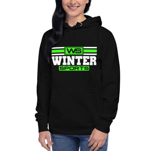 Winter Sports - Lime Green Unisex Hoodie