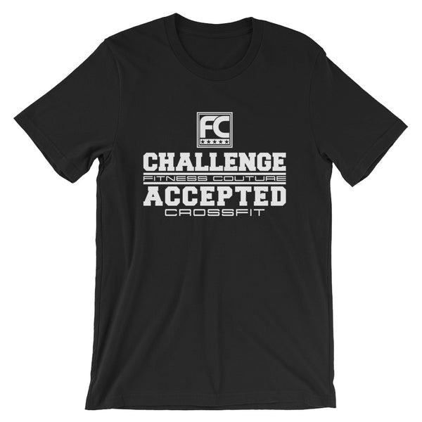 Challenge Accepted - Fitness Couture Training, Gym Day T-shirt - xpertapparel