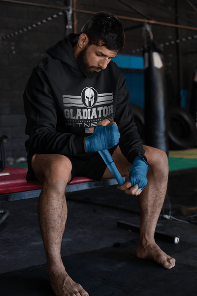 Gladiator Fitness Apparel Line - Dull Silver Textured Hoodie