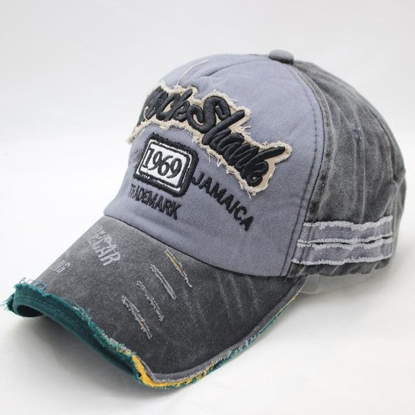 Vintage Washed Denim Cotton Sports Baseball Cap for Women and Men - xpertapparel