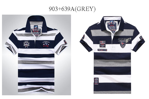 High Quality Polo Shirts Striped short an long sleeve polo shirt men...