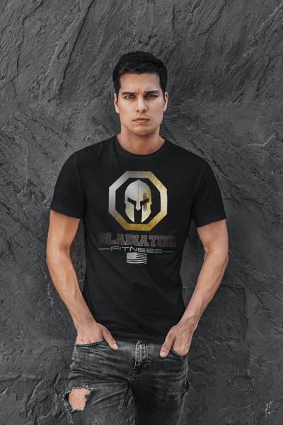 Gladiator Fitness Logo Tee - Gym Tee, Workout, Training...