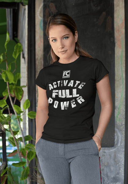 Fitness Couture - Activate Full Power T-shirt- General Gym Workout Tee