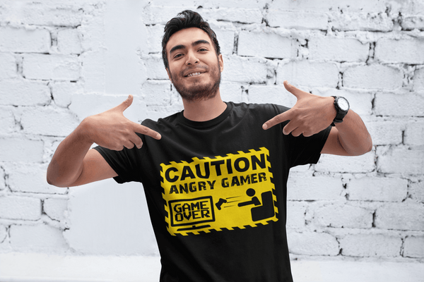 Caution Angry Gamer Computer Funny Video Game Gift T-Shirt