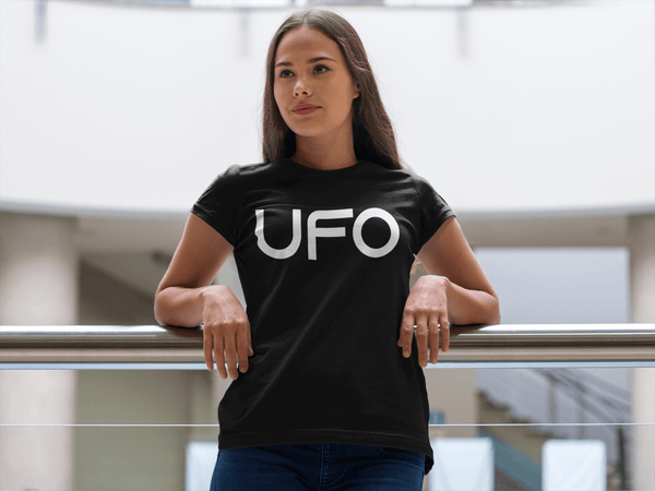 UFO - Color Gradient Tee - NASA - UFO Funny Tee