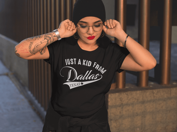Just a Kid From Dallas TX -  Rep your city Tee Unisex Man and woman