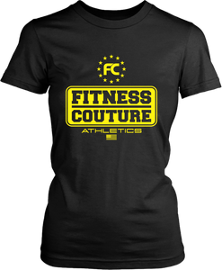 Fitness Couture Athletics Logo T-shirt Design... Workout, Gym Day or just out running errands... - xpertapparel