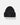 Wool Blend Double Cuff Beanie - Black