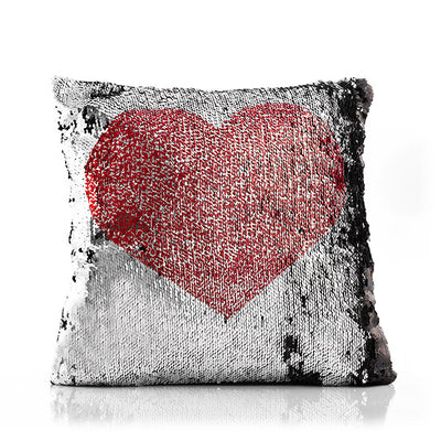 Loom In Bloom Love & Heart Magic Mermaid Sequin Cushion