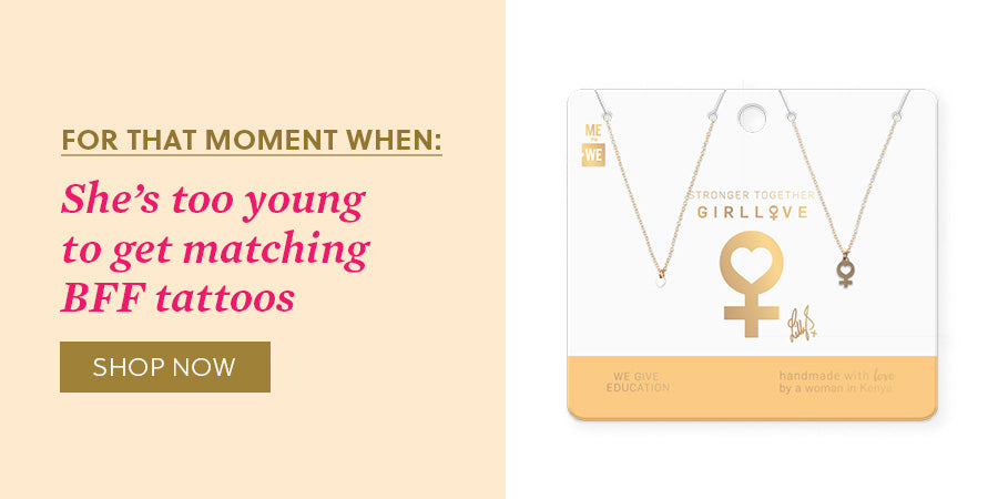 For that moment when: She's too young to get matching BFF tattoos - Shop now