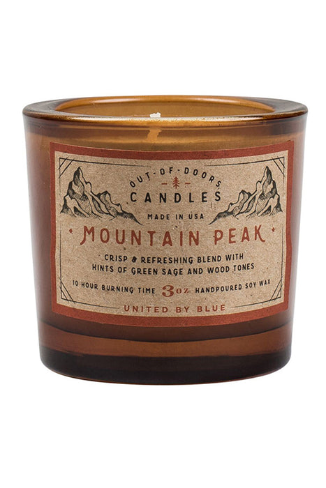 United by Blue - 3 oz Out-of-Doors Candle - Mountain Peak