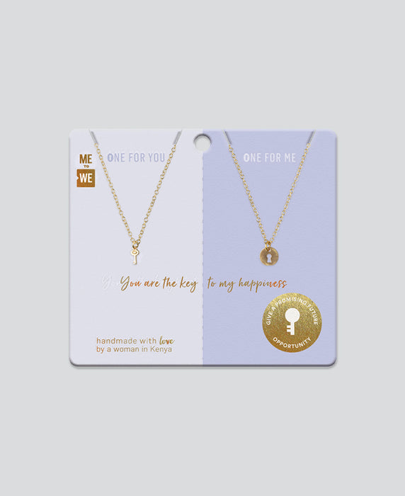 Share and Pair Necklace – Key and Lock