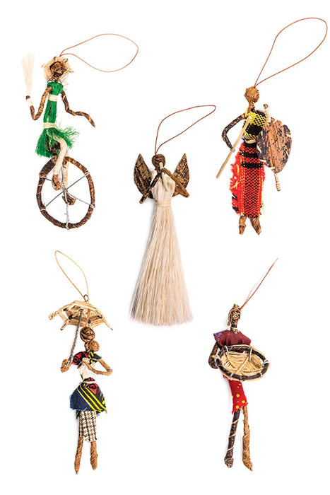 Sisal Ornaments - Set of 5