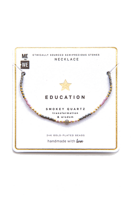 Semiprecious Uzuri Necklace - Education - Smoky Quartz