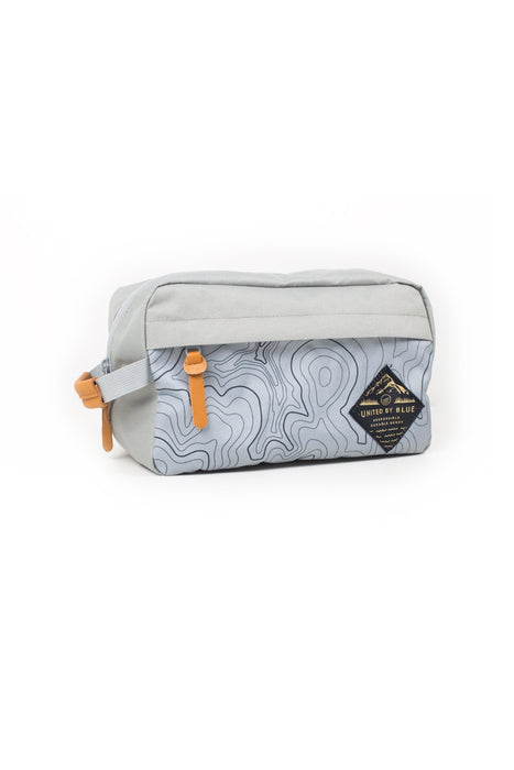 United by Blue - Topography Crest Travel Case - White