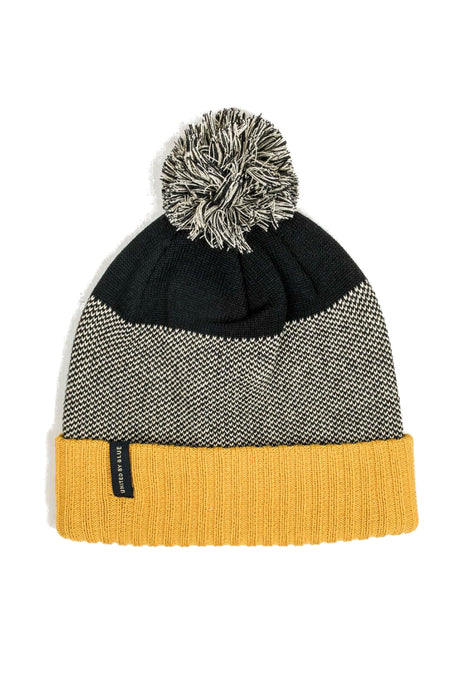 United by Blue - Birdseye Pom Beanie - Gold