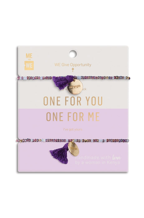 Just the Two of Us Rafiki Bracelet Set - Opportunity