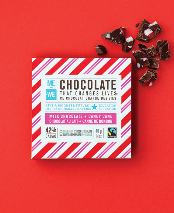 Milk + Candy Cane – ME to WE Chocolate That Changes Lives™