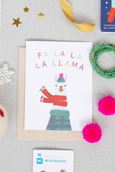 Holiday Greeting Card - Fa La Llama