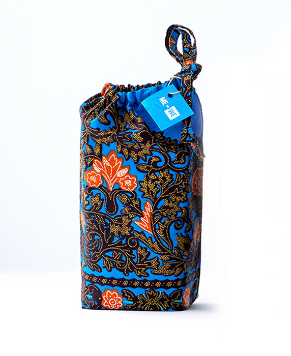 Reusable Kitenge Gift Bag | Blue & Orange