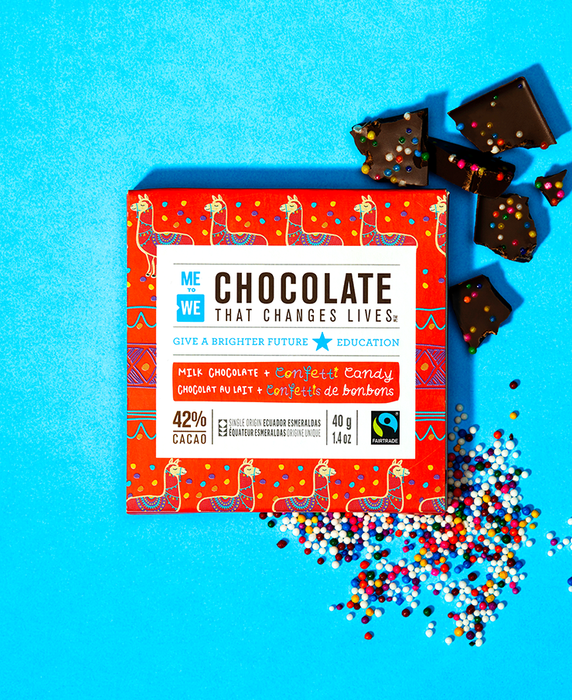 Milk + Confetti - ME to WE Chocolate That Changes Lives™