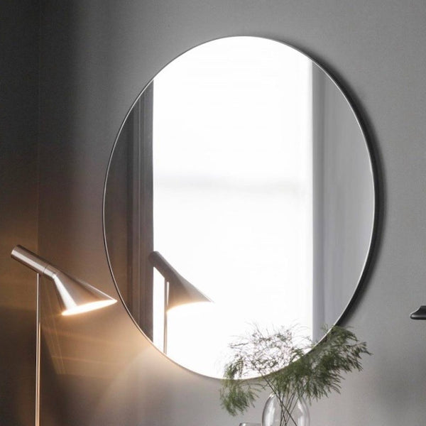Simple Round Unlit Mirror (2 Available)