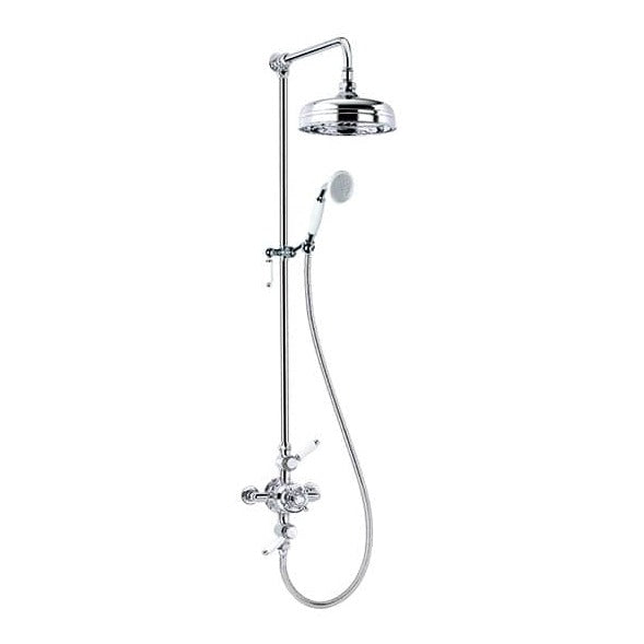 200MM TRADITIONAL EXPOSED THERMOSTATIC SHOWER VALVE WITH SLIDE RAIL