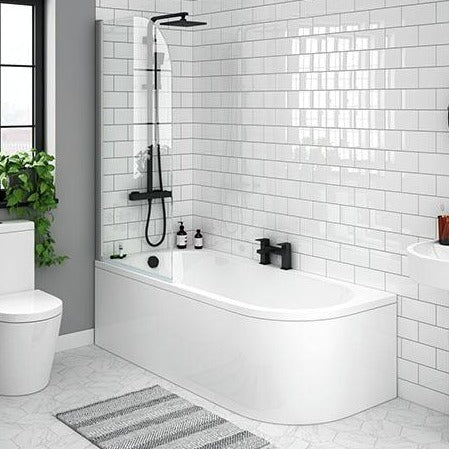 J  Shaped Corner Bath