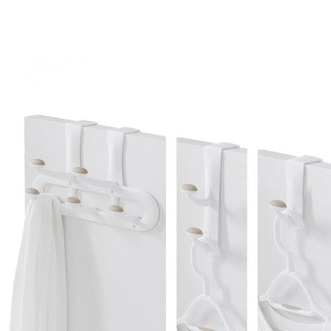 Set of 3 Over-the Door Non-Slip Plastic Hooks - Style 0558