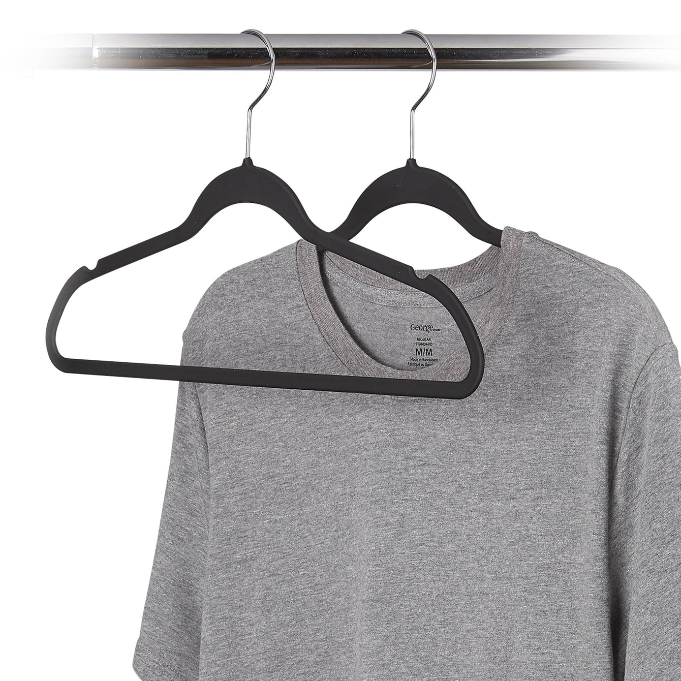 10 Pack Ultra-Grip Non-Slip Clothes Hanger - Style 0678
