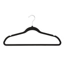 50 Pack Ultra-Slim Felt Non-Slip Clothes Hanger - Black - Style 6800