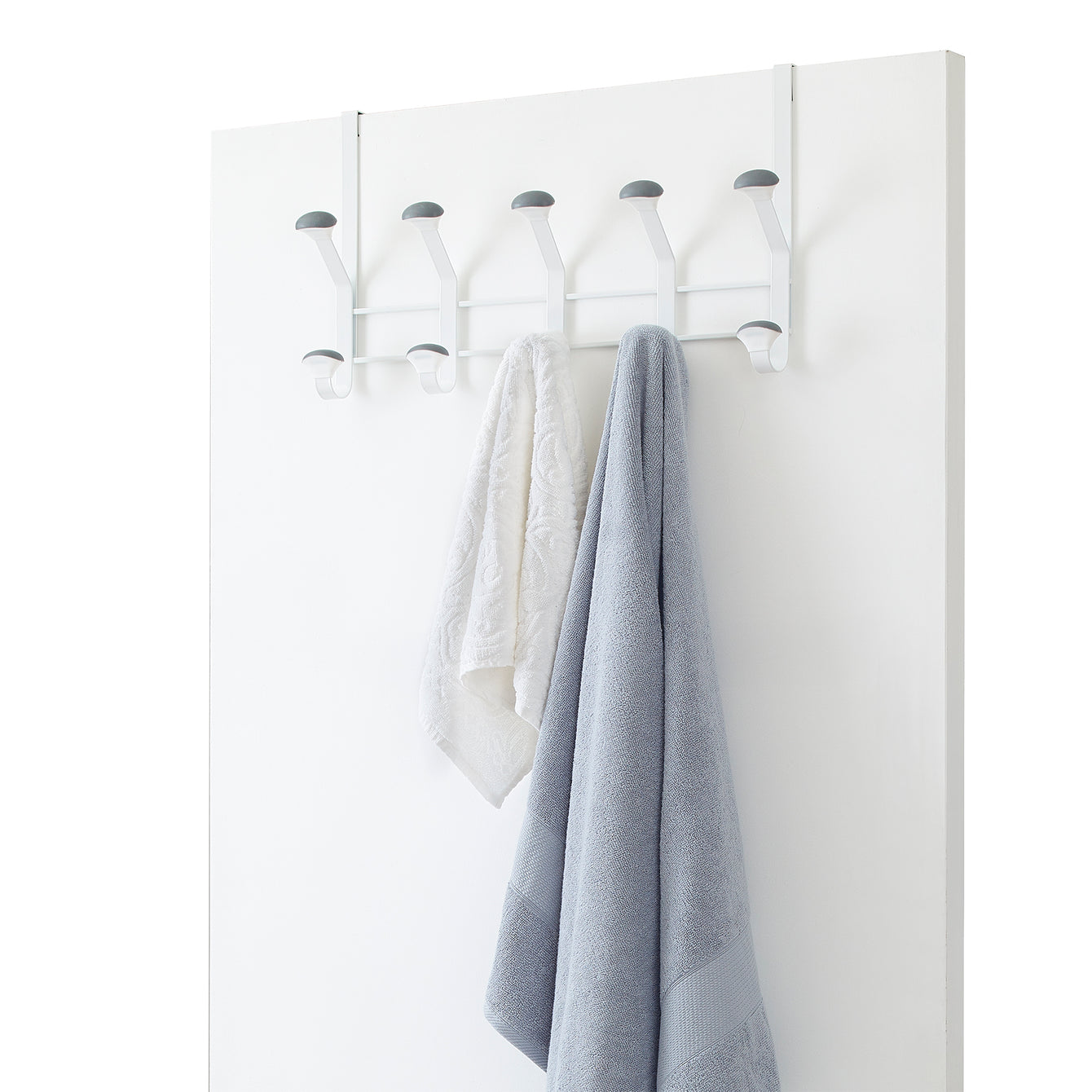 Linea Non-Slip Metal Over the Door 10 Peg Hook – Style 1012