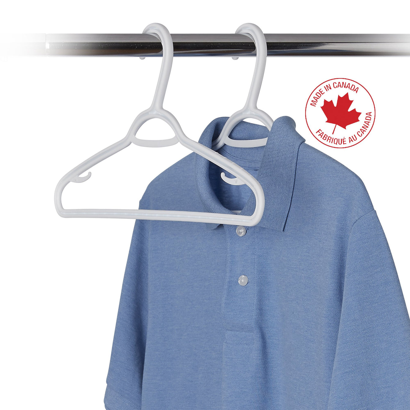 "10 Pack Slim Plastic ""W"" Clothes Hanger - Style 2222"