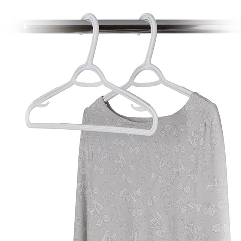 "10 Pack Non-Slip Slim ""W"" Clothes Hanger - Sand Pebble Taupe - Style 2225"
