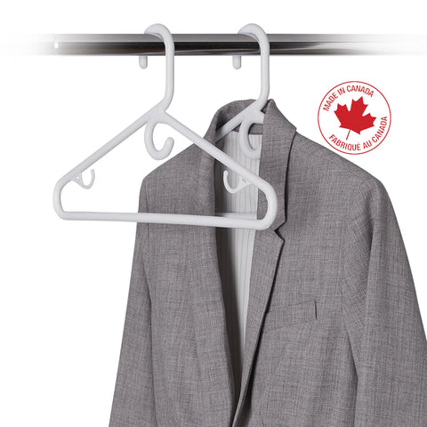 10 Pack Heavy-Duty Plastic Coat Hanger - Style 2299