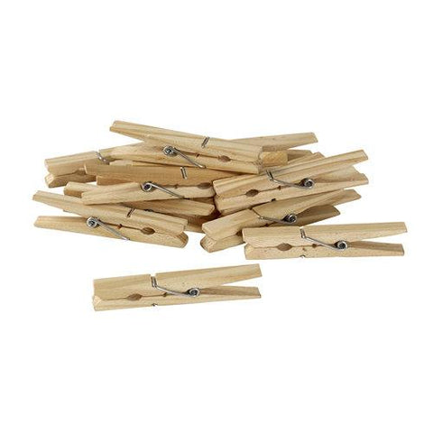 50 Pack Natural Wood Clothespins - Style 3031